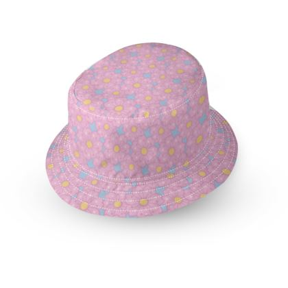 Cherry Blossoms Pattern Bucket Hat