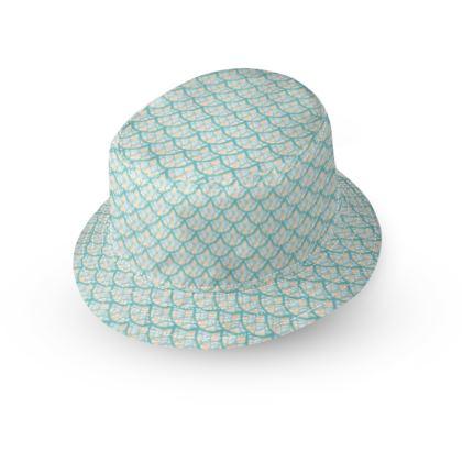 Mermaid Scales Seaside Pattern Bucket Hat