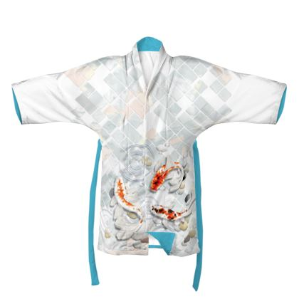 Kimono - Soft & Comfortable With Beautiful Koi Fish Design One