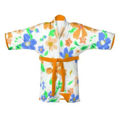 Summer Floral Kimono Robe