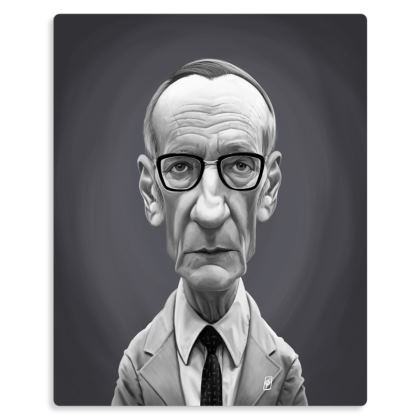 William Burroughs Celebrity Caricature Metal Print