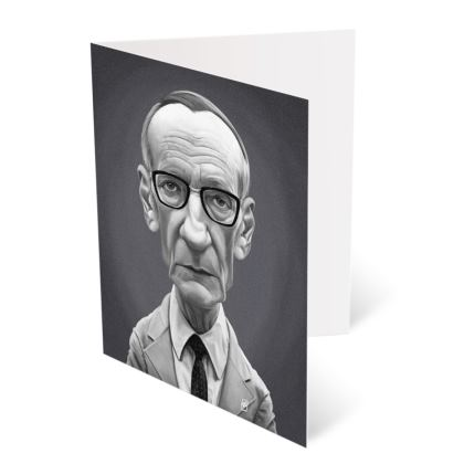 William Burroughs Celebrity Caricature Occasions Cards