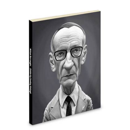 William Burroughs Celebrity Caricature Pocket Note Book