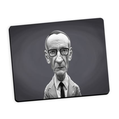 William Burroughs Celebrity Caricature Mouse Mat