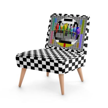 Test Card and Rainbow Budgies Occasional Chair