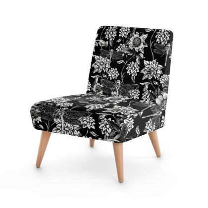 Black and White Nature Garden Occasional Chair