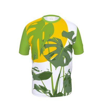 Mens Cut And Sew T-Shirt Monstera Deliciosa