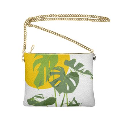 Crossbody Bag With Chain Monstera Deliciosa
