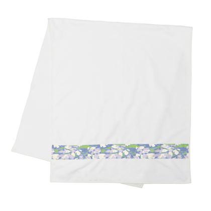 Strip Towels White, Blue, Green,  Laced Leaf  Platinum