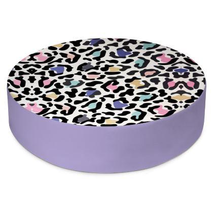 Round Floor Cushions Safari Rainbow