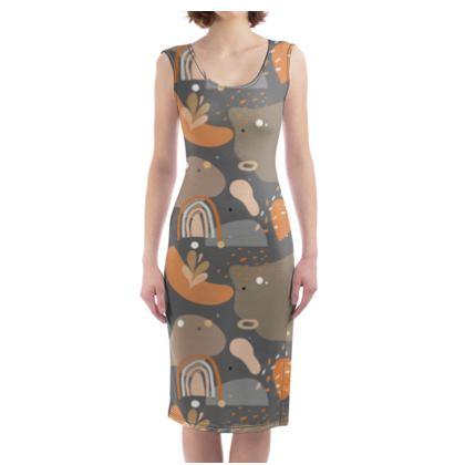 Bodycon Dress Abstract 01