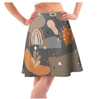 Flared Skirt Abstract 01