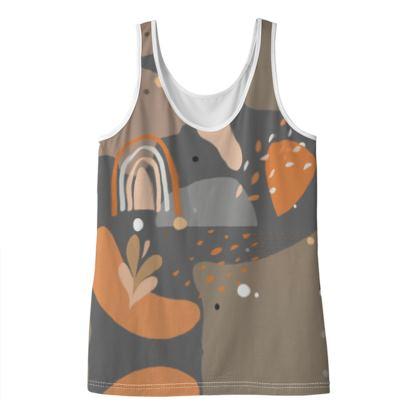 Ladies Vest Top Abstract 01