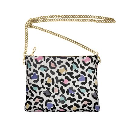 Crossbody Bag With Chain Safari Rainbow