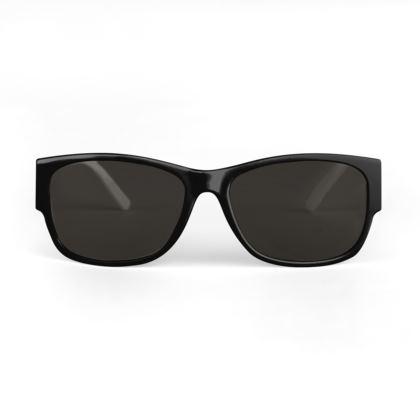 Quirky Studio Pine Designer Sunglasses- Black