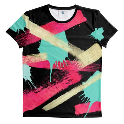 Ladies T Shirt Graffiti Glow