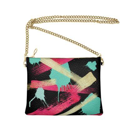 Crossbody Bag With Chain Graffiti Glow