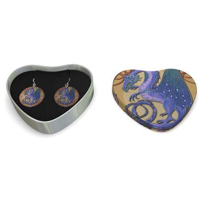 Purple Dragon Sterling Silver Earrings