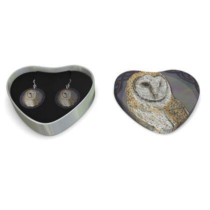 Celtic Owl Sterling Silver Earrings