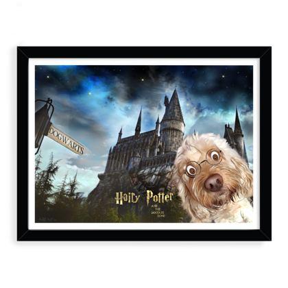 Hairy Potter framed art print ~ black frame