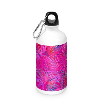 2018 New Year's Resolutions Pink Tropical Water Bottle