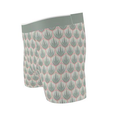 Palm Deco Pattern ~ Spring Succulents Boxer Briefs