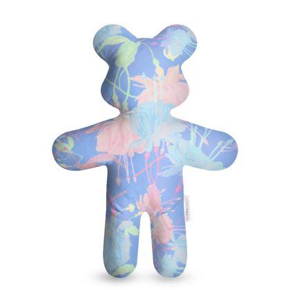 Teddy Bear Blue, Pink, Floral  Fuchsias  Baby Blue