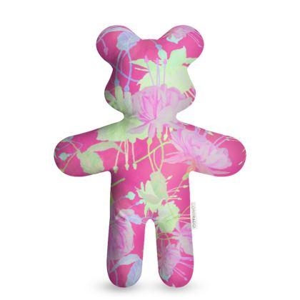 Teddy Bear Pink, Yellow, Floral  Fuchsias  Cherry Cake