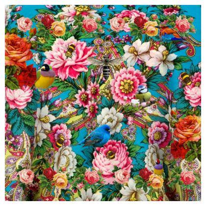 Russian Birdforest Fabric Printing
