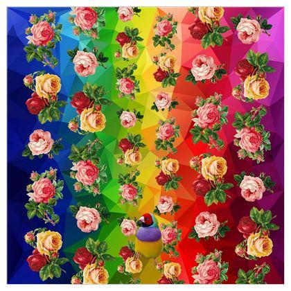 Rainbow Roses Fabric Printing