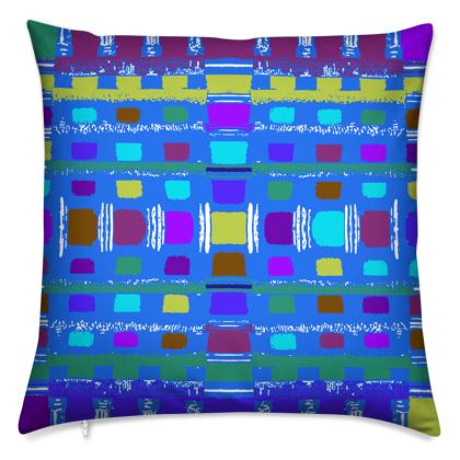 Blue Abstract Cushions