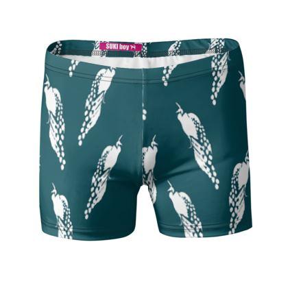 KUJAKU Swim Shorts (Ocean)