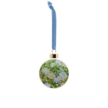 Bone China Baubles Green, Blue, Floral  Fuchsias  Newt