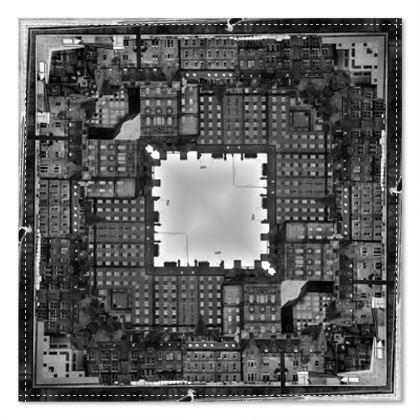 Pocket Square Black and White, Edinburgh Old Town, Scotland