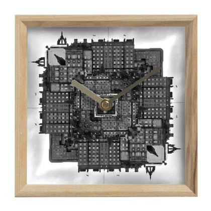 Mantle Clock Edinburgh Old Town, Scotland in Black and White