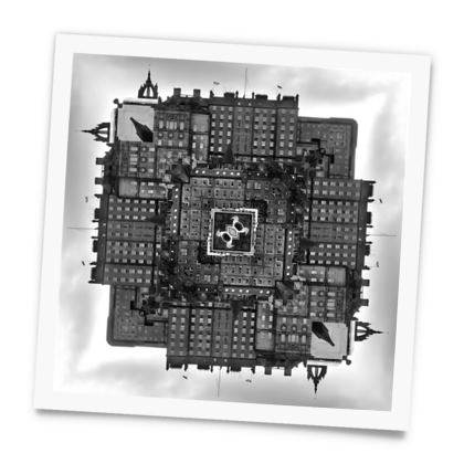 Square Photo Prints, World of Edinburgh, Scotland in Black and White