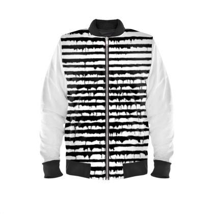 Stripy Urban Mens Bomber Jacket