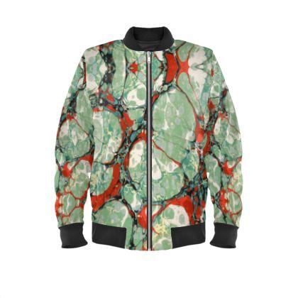 Mens Bomber Jacket, Green Cell