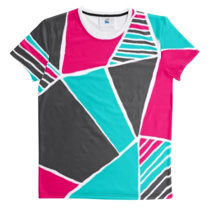 Cut And Sew All Over Print T Shirt Capri Costanzo