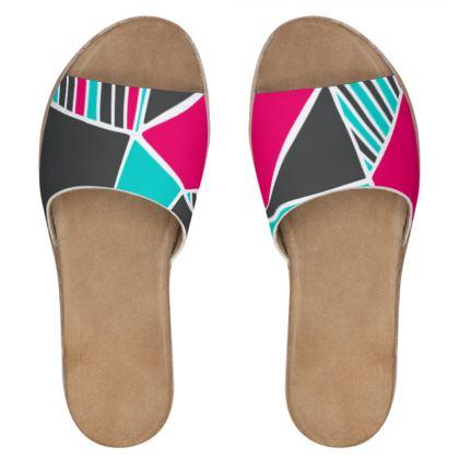 Women's Leather Slider shoes Capri Constanzo