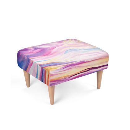 Colourful and Artistic Footstool