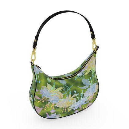 Curve Hobo Bag Green, Blue, Floral  Fuchsias  Newt