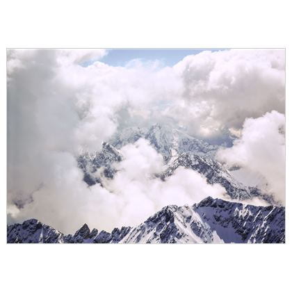 Alpenblick auf Stoff
