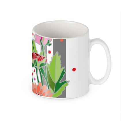 Chrysanthemum Light Stripe Ceramic Mug