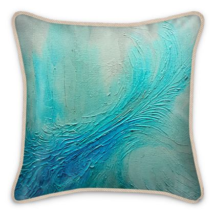 Refreshing Ocean Wave Silk Cushions