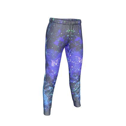 Womens Jogging Bottoms - Purple Nebula Galaxy Abstract