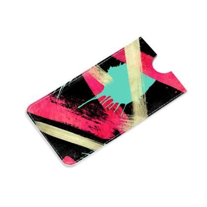 Leather IPhone 6 Plus Case Graffiti Glow