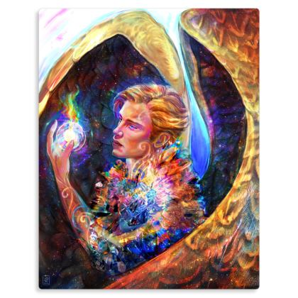 Samandiriel - Angel of Imagination Metal Print