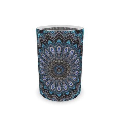 Wine Bottle Cooler Blue Mandala