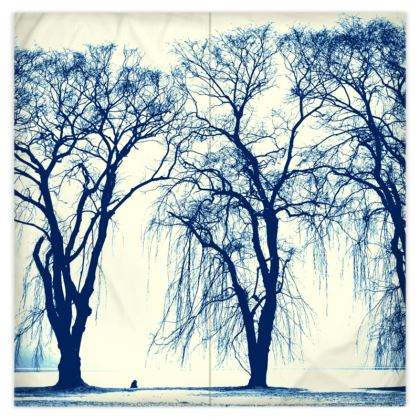 The BLUE TREES Duvet Cover